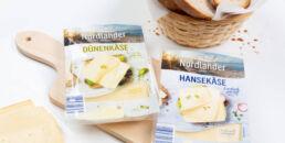 Konzeption und Gestaltung der neuen Käse-Marke Nordlander