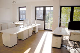 Das ausgebaute Loft-Atelier in Flingern