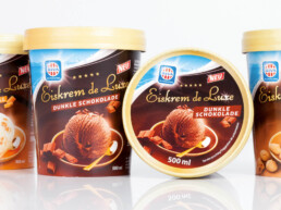 Re-Branding der Dachmarke und Packaging RIVA Eis-Sortiment